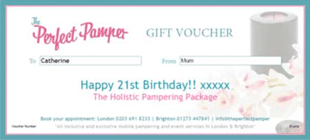 Pampering Gift voucher