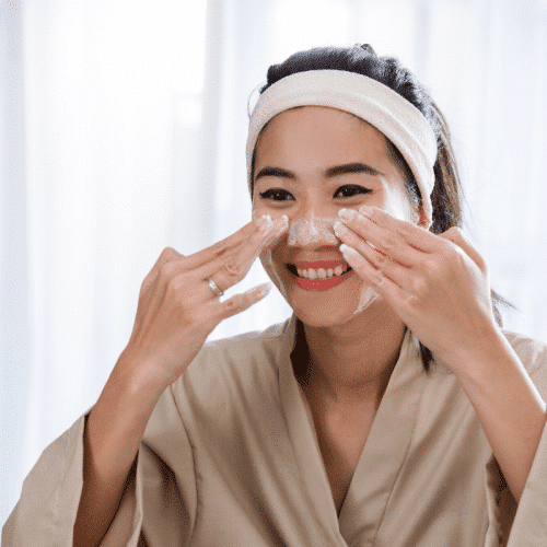 Group skincare facial